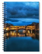 Clouds Over Ponte Vecchio Spiral Notebook
