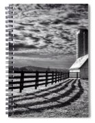 Clouds Over The Farm Spiral Notebook