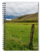 Clouds Over The Hills Spiral Notebook