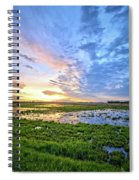 Clouds Over The Marsh 4 Spiral Notebook
