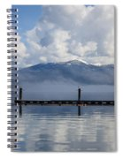 Clouds Reflecting Off Priest Lake Spiral Notebook