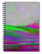 Clouds Rolling In Abstract Landscape Purple And Hot Pink Spiral Notebook