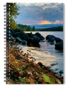 Cloudy Autumn Sunset Spiral Notebook