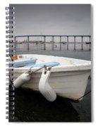 Cloudy Coronado Island Boat Spiral Notebook