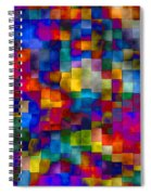 Cloudy Cubes Spiral Notebook