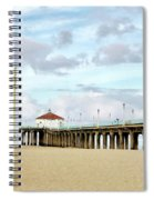 Cloudy Day In Manhattan Beach Spiral Notebook