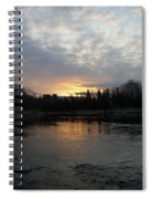 Cloudy Mississippi River Sunrise Spiral Notebook