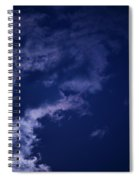 Cloudy Moon With Jupiter Spiral Notebook