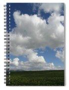 Cloudy Mustard Spiral Notebook
