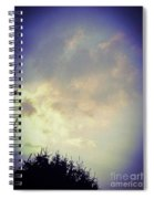 Cloudy Sky Before A Storm Spiral Notebook