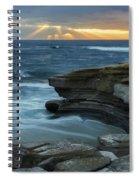 Cloudy Sunset At La Jolla Shores Beach Spiral Notebook