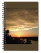 Cloudy Sunset Spiral Notebook