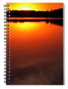 Cloudy Sunset Spiral Notebook