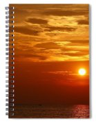 Cloudy Sunset On Lake Ontario - 27 August 2018 Spiral Notebook