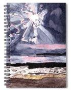 Cloudy Twilight Skyshine Spiral Notebook