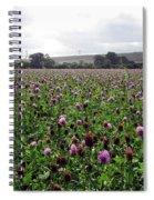 Clover Field Wiltshire England Spiral Notebook