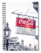 Clover Grill Coke Sign Spiral Notebook