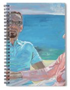 Clovis And Bethany At Tobacco Bay, Bermuda Spiral Notebook