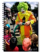 Clown Entertaining Kids Spiral Notebook