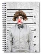 Clown Mug Shot Spiral Notebook