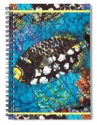 Clown Triggerfish-bordered Spiral Notebook