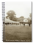 Club House And Golf Links, Old Del Monte, Monterey, California Circa 1920 Spiral Notebook