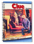 Clue Board Game Painting Spiral Notebook