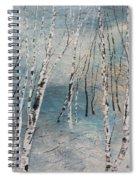 Cluster Of Birches Spiral Notebook