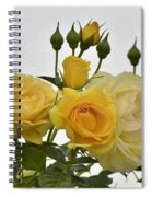 Cluster Of Yellow Roses Spiral Notebook