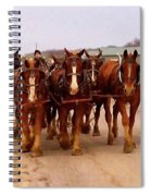 Clydesdale Amish Plow Team Spiral Notebook
