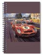 Cma 051 1962 Le Mans Ferrari 330 Driver Phil Hill Roy Rob Spiral Notebook