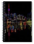 Cn Tower Outline Spiral Notebook