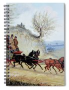 Coaching Oil Of A Royal Mail Coach Crossing Landscape Spiral Notebook