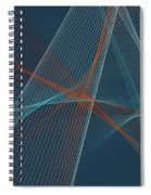 Coast Computer Graphic Line Pattern Spiral Notebook