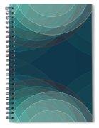 Coast Semi Circle Background Horizontal Spiral Notebook
