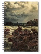 Coastal Landscape With Ships On The Horizon Spiral Notebook