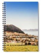 Coastal Tasmanian Town Spiral Notebook