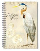 Coastal Waterways - Great Blue Heron Spiral Notebook