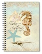 Coastal Waterways - Seahorse Rectangle 2 Spiral Notebook