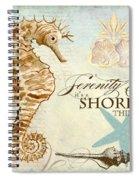 Coastal Waterways - Seahorse Serenity Spiral Notebook