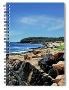 Coastline And Otter Cliff 1 Spiral Notebook