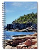 Coastline And Otter Cliff 3 Spiral Notebook
