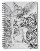 Coat Of Arms With Open Man Behind Spiral Notebook