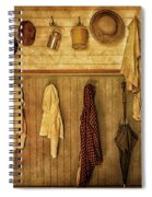 Coat Room At The Old Schoolhouse Spiral Notebook