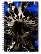 Cobalt Blue Wormhole Spiral Notebook