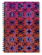 Cobalt Crimson Spiral Notebook