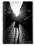 Cobblestone Path Home Paris Bw Spiral Notebook