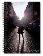 Cobblestone Path Home Paris Spiral Notebook