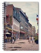 Cobblestone Streets In Old Montreal  Spiral Notebook