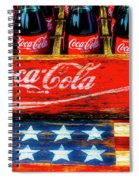 Coca Cola And Wooden American Flag Spiral Notebook